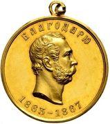 Medal - Alexander II (For Efforts in Organising Military Factory Workers) – obverse