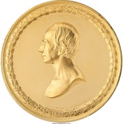 """Medal - """"Pure California Gold"""" (Struck for Presentation to Henry Clay) – obverse"""