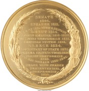 """Medal - """"Pure California Gold"""" (Struck for Presentation to Henry Clay) – reverse"""