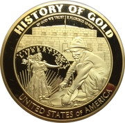 Medal - First discovery of gold in the U.S. – obverse