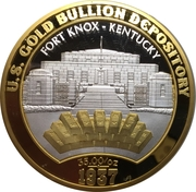 Medal - U.S. gold bullion depository – reverse
