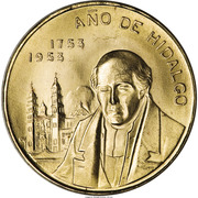 Medal - 200th Anniversary of the birth of Hidalgo – obverse