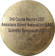 Army Medical College Medal (2nd Course Reunion) – reverse