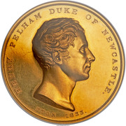 Medal - Duke of Newcastle (Eton College Pelham Prize) – obverse