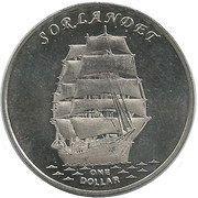 1 Dollar (Sorlandet) -  reverse