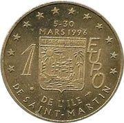 1 Euro (St. Martin Euro Fantasy Token) – obverse