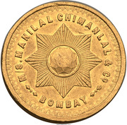 5 Tolas (Manilal Chimanlal & Co; Bombay) – obverse