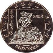 5 E (Andorra Euro Fantasy Token) – obverse