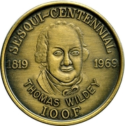 Medal - Thomas Wildey (Independent Order of Odd Fellows) – obverse