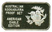 "1 oz Silver (""Kookaburra""; American Eagle Proof Set) – obverse"