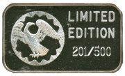 "1 oz Silver (""Kookaburra""; American Eagle Proof Set) – reverse"