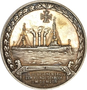 Medal - WWI Fregattenkapitän Karl von Müller – reverse