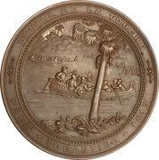 Medal - Discovery of Tocantins by Daniel de la Touche – reverse