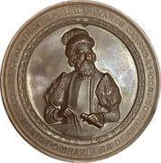 Medal - Discovery of Jurua on the Napo and Amazon river by Goncalo Pisarro and Pedro de Ursua – obverse