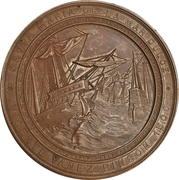 Medal - First expedition to Santa Maria de la Mar Dulce by Vicente Yáñez Pinzón – reverse