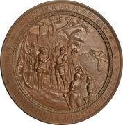 Conquest of the Amazon by Pedro Texeira and Bento de Oliveira – reverse