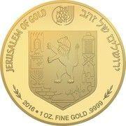 1 oz Gold (Views of Jerusalem - Mishkenot Sha'ananim) – reverse