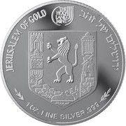 1 oz Silver (Views of Jerusalem - Mishkenot Sha'ananim) – reverse