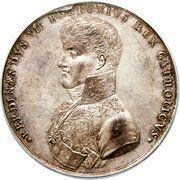 Medal - Ferdinand VII (University of Mexico City Literary Award) – obverse