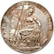 Medal - Ferdinand VII (University of Mexico City Literary Award) – reverse