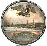 Medal - Nicholas I (Construction of the Blagoveschensk Bridge over Neva) – obverse