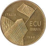 1 ECU (EEC Anniversary) – obverse