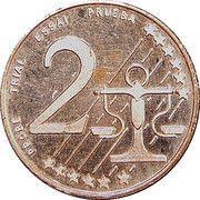 2 Cent (Bulgaria Euro Fantasy Token) – reverse