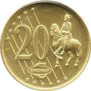 20 Cent (Sweden Euro Fantasy Token) – reverse