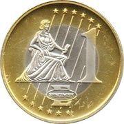 1 Euro (Sweden Euro Fantasy Token) – reverse