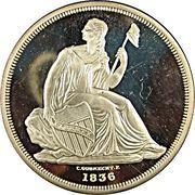 2 oz silver (America's Rarest Coins - Gobrecht Dollar) – obverse
