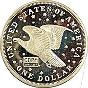 2 oz silver (America's Rarest Coins - Gobrecht Dollar) – reverse