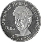 5 Euro - Diana (Queen of Hearts) – obverse