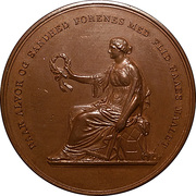Medal for well done apprenticeship exam in front of  representatives of the Danish industry and crafts – obverse