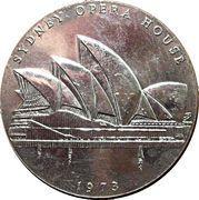 Sydney Opera House Commemorative Medallion 1973 – obverse
