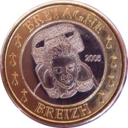 1 E (Brittany Euro Fantasy Token) – obverse