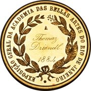 Medal - Pedro II (Brazil National Exposition Award Medal to Thomas Driend) – reverse