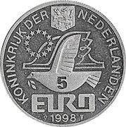 5 Euro - Beatrix (M.C.Escher) -  obverse