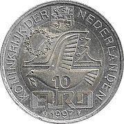 10 Euro - Beatrix (P.C.Hooft -1581/1647-) -  reverse