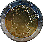 2 Euro (Germany Euro Fantasy Token; World Cup 2006) – obverse
