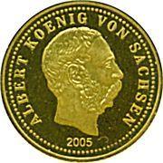 5 Dollars (Albert, King of Saxony) – reverse