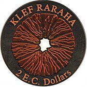 2 E.C. Dollars – obverse