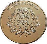 100 Liras (Estonia in the EU) – reverse