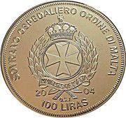 100 Liras (Estonia in the EU) – obverse