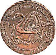 Medal - George V (Western Australian Centenary 1929) – reverse