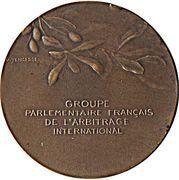 Médaille groupe parlementaire Français de l'arbitrage international – reverse