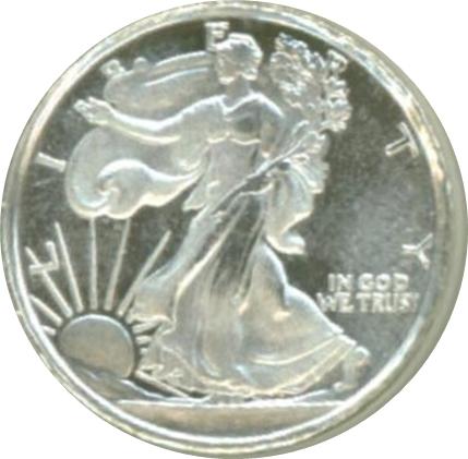 1 10 Oz Silver Walking Liberty Exonumia Numista