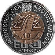 10 Euro - Beatrix (M.C. Escher) -  obverse