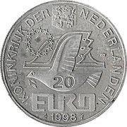 20 Euro - Beatrix (M.C.Escher -1898/1972-) -  obverse