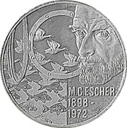 20 Euro - Beatrix (M.C.Escher -1898/1972-) -  reverse