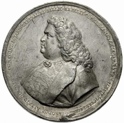 Medal - Peter I (Honoring Count Feodor Alexeevich Golovin) -  obverse